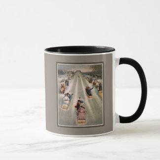 ビクトリアンなそりのそりの広告 マグカップ