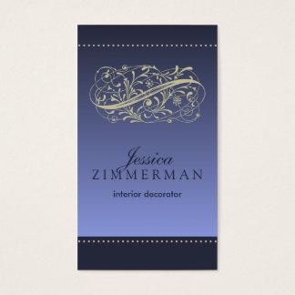 ビクトリアンなアザミの青い名刺 名刺