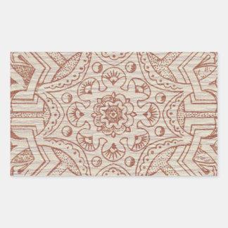 ビクトリアンなアラベスク、IDALIS -羊皮紙 長方形シール