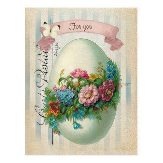 ビクトリアンなイースター花の卵 ポストカード