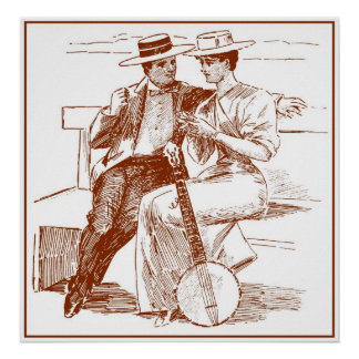 ビクトリアンなカップルポスター ポスター