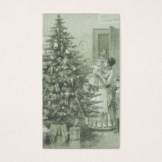 ビクトリアンなクリスマスのギフトのラベルの名刺 名刺