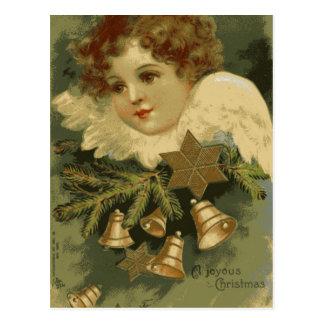 ビクトリアンなクリスマスの天使の郵便はがき ポストカード