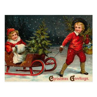 ビクトリアンなクリスマスの郵便はがき はがき