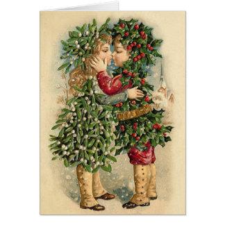 ビクトリアンなクリスマスはカードに接吻します カード