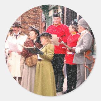 ビクトリアンなクリスマスキャロルの歌手 ラウンドシール