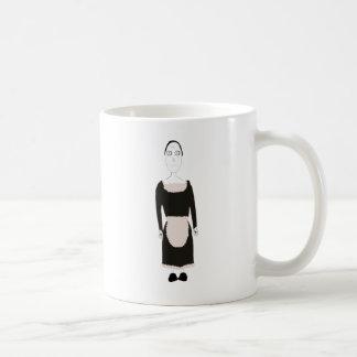 ビクトリアンなゴシック様式女中のキャラクター コーヒーマグカップ