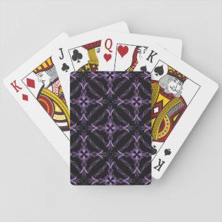 ビクトリアンなゴシック様式紫色のフラクタルパターン トランプ