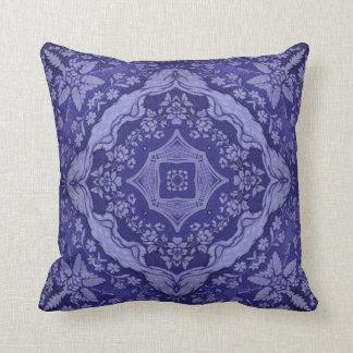 ビクトリアンなサファイア花パターンMoJoの枕 クッション