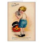 ビクトリアンなハロウィンのおもしろいの挨拶状 カード