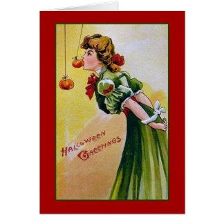 ビクトリアンなハロウィンの挨拶状 グリーティングカード