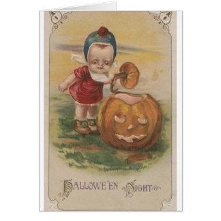 ビクトリアンなハロウィン夜挨拶状 グリーティングカード