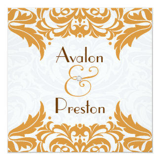 ビクトリアンなバロック式のサフランの華麗さの結婚式 カード