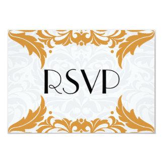 ビクトリアンなバロック式のサフランの華麗さRsvp カード