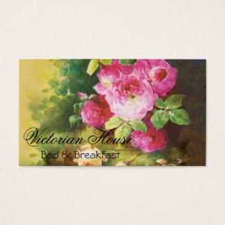 ビクトリアンなピンクのキャベツバラの名刺 名刺