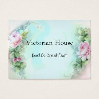 ビクトリアンなピンクのバラの名刺 名刺