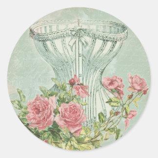 ビクトリアンなブライダルシャワーの装飾のシックなヴィンテージのコルセット ラウンドシール