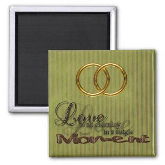 ビクトリアンな二重結婚式は愛磁石を鳴らします マグネット
