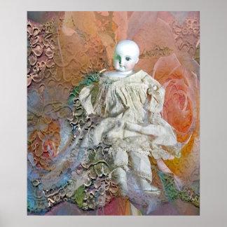 ビクトリアンな人形のプリント ポスター