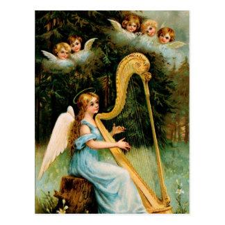 ビクトリアンな天使のクリスマスの郵便はがき ポストカード
