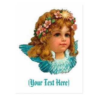 ビクトリアンな天使のヴィンテージの花柄イースター ポストカード