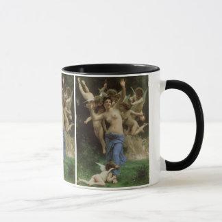 ビクトリアンな天使の芸術、Bouguereau著スズメバチの巣 マグカップ