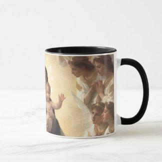 ビクトリアンな天使、Bouguereau著レジーナAngelorum マグカップ