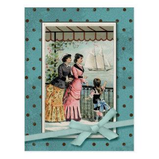 ビクトリアンな女性及び女の子のヴィンテージの再生 ポストカード