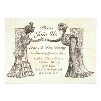 ビクトリアンな女性招待状 カード