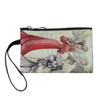 ビクトリアンな女性-ヴィンテージのフランス人のファッション-赤い服 コインパース