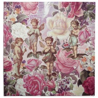 ビクトリアンな庭の布のナプキン(4)夕食の置いて下さい ナプキンクロス