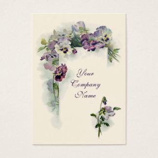 ビクトリアンな紫色のパンジーの名刺 名刺