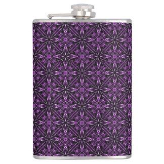 ビクトリアンな紫色のフラクタルパターン フラスク