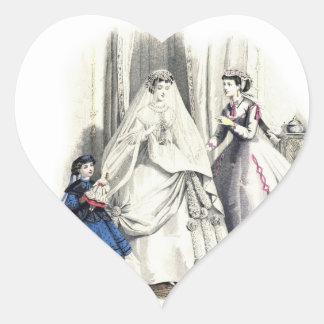 ビクトリアンな結婚式1のハートのステッカー ハートシール