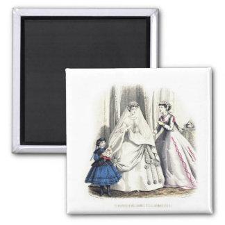 ビクトリアンな結婚式1の磁石 冷蔵庫用マグネット