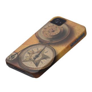 ビクトリアンな自転車のSteampunkの行く時間時計 Case-Mate iPhone 4 ケース