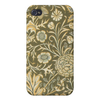 ビクトリアンな花のペイズリーのオリーブ色のSpeckの箱iPhone4 iPhone 4 Case