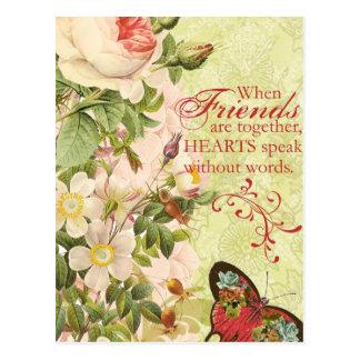 ビクトリアンな花の友情 ポストカード