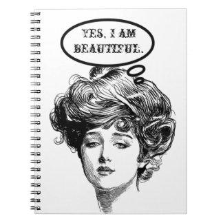 ビクトリアンな花型女性歌手のユーモア ノートブック