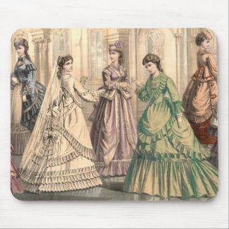 ビクトリアンな花嫁および付き添い人 マウスパッド
