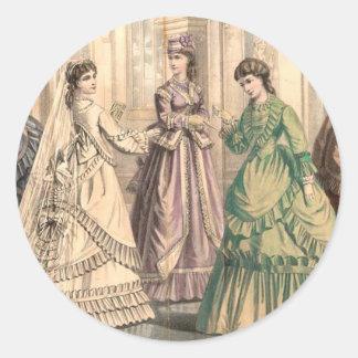 ビクトリアンな花嫁および付き添い人 ラウンドシール