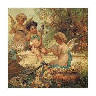 ビクトリアンな芸術、ハンズZatzka著ミュージシャンの天使 ウッドウォールアート