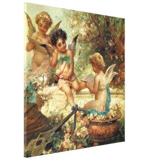 ビクトリアンな芸術、ハンズZatzka著ミュージシャンの天使 キャンバスプリント