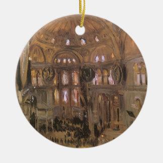 ビクトリアンな芸術、Sargent著サンタSophiaのスケッチ セラミックオーナメント