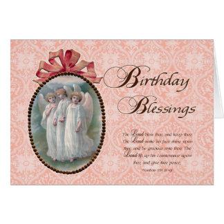ビクトリアンな誕生日の恵み カード