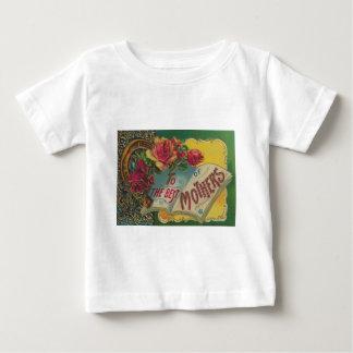 ビクトリアンな蹄鉄の母の日カード ベビーTシャツ