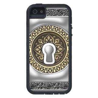 ビクトリアンな鋼鉄および金ゴールドの主穴 iPhone SE/5/5s ケース