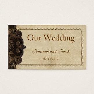 ビクトリアンな革Steampunkの結婚式のウェブサイトカード 名刺