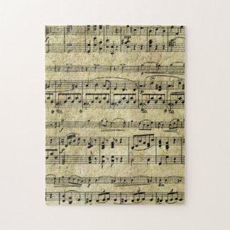 ビクトリアンな音楽シートの壁紙 ジグソーパズル