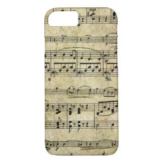 ビクトリアンな音楽シートの壁紙 iPhone 8/7ケース